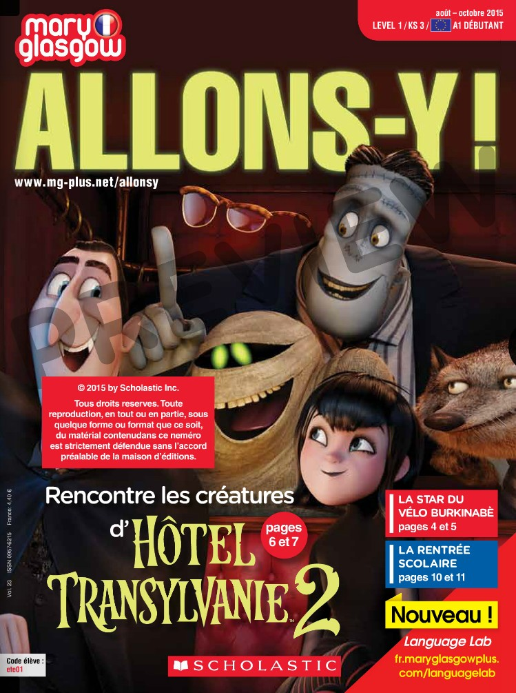 Preview image for LOM object Mary Glasgow Magazines: Allons-y!