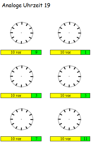 Preview image for LOM object Analoge Uhrzeit üben