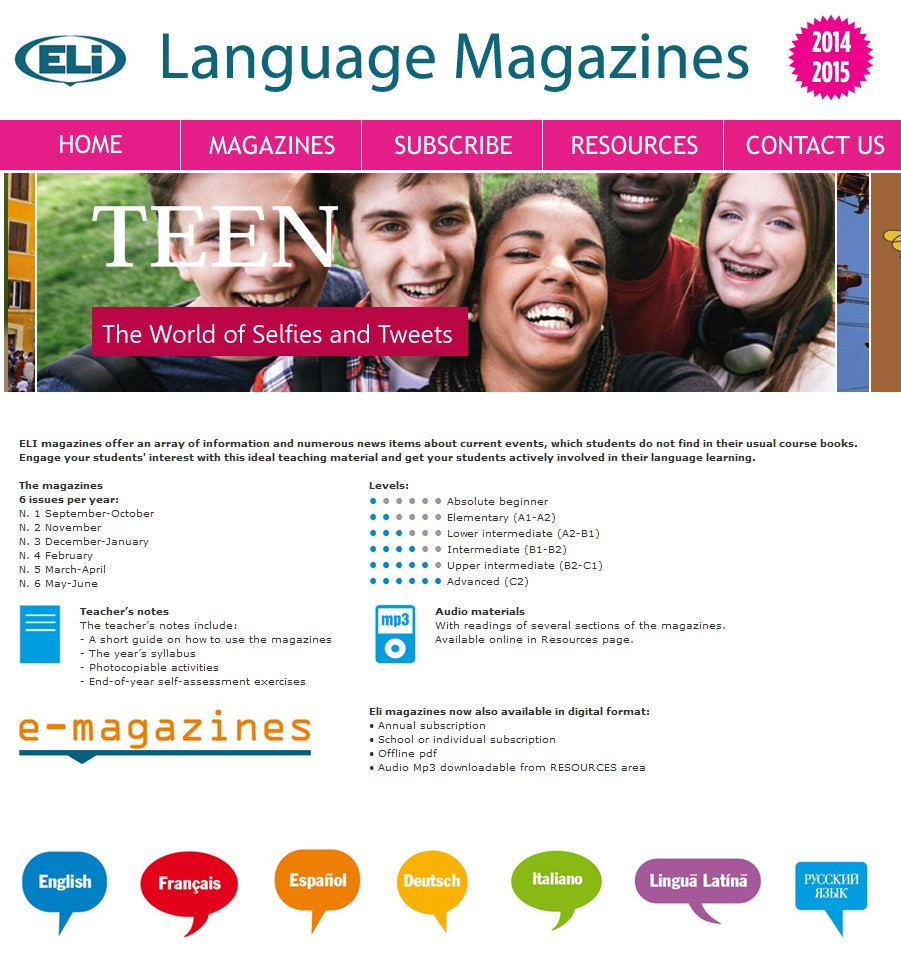 Preview image for LOM object ELI Language Magazines: Ready for English