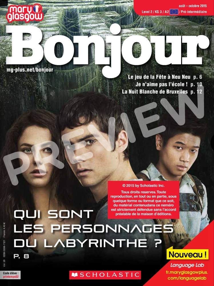 Preview image for LOM object Mary Glasgow Magazines: Bonjour