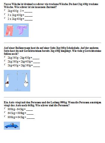 Preview image for LOM object Sachrechnen mit Gewichten 3