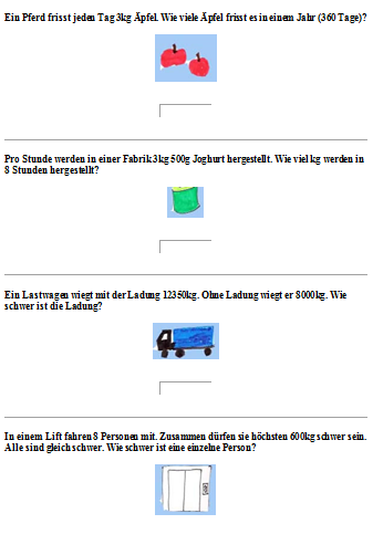 Preview image for LOM object Sachrechnen mit Gewichten 4