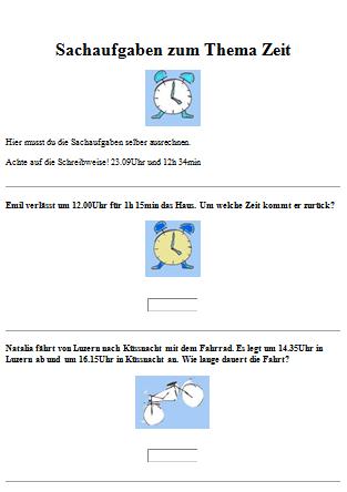 Preview image for LOM object Sachrechnen mit Zeitmassen 4