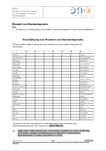 Preview image for LOM object Mundart und Standardsprache