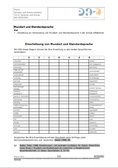 Preview image for LOM object Mundart und Standardsprache