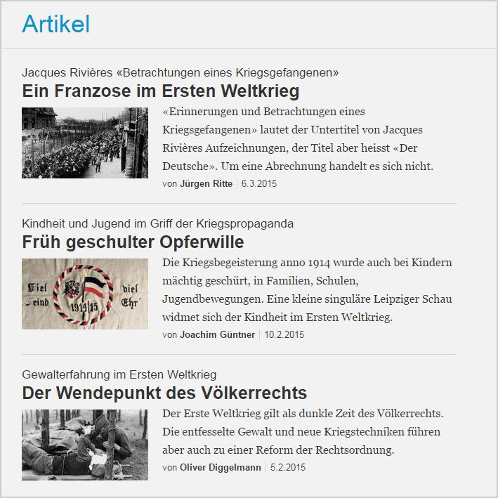 Der Erste Weltkrieg | zebis