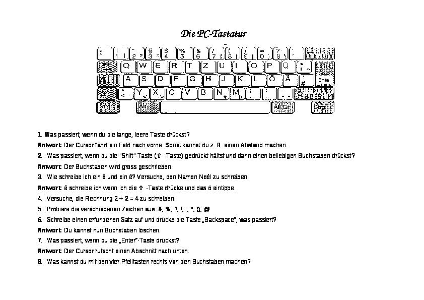 tastatur kennenlernen grundschule