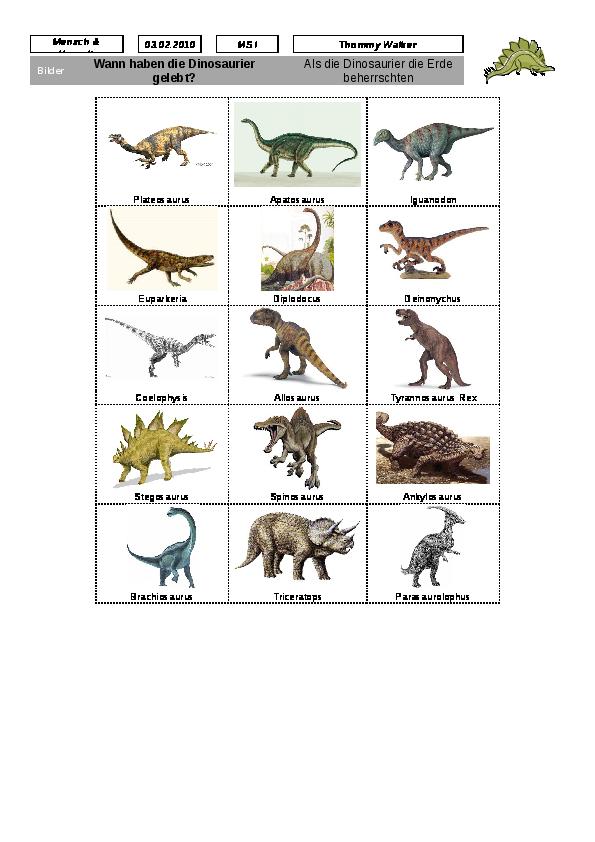 Exelent Dinosaurier Arbeitsblatt Image - Kindergarten Arbeitsblatt ...
