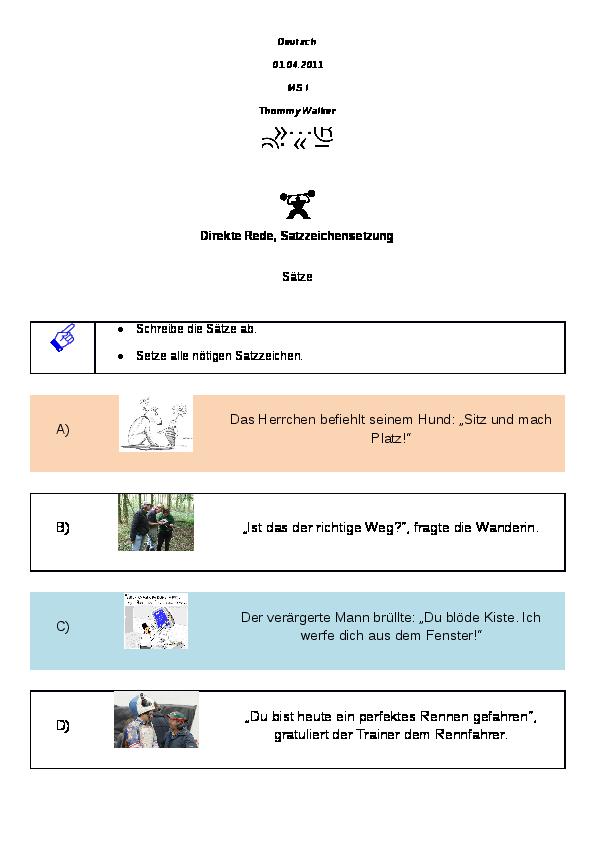 Fein Mach Regel Arbeitsblatt Bilder - Arbeitsblätter für ...