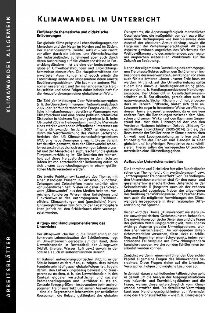 Fantastisch Klimawandel Arbeitsblatt Bilder - Arbeitsblätter für ...