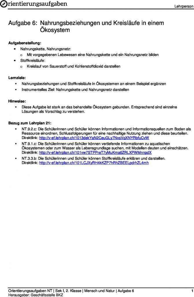 Erfreut Nahrungskette Vorlage Zeitgenössisch - Dokumentationsvorlage ...