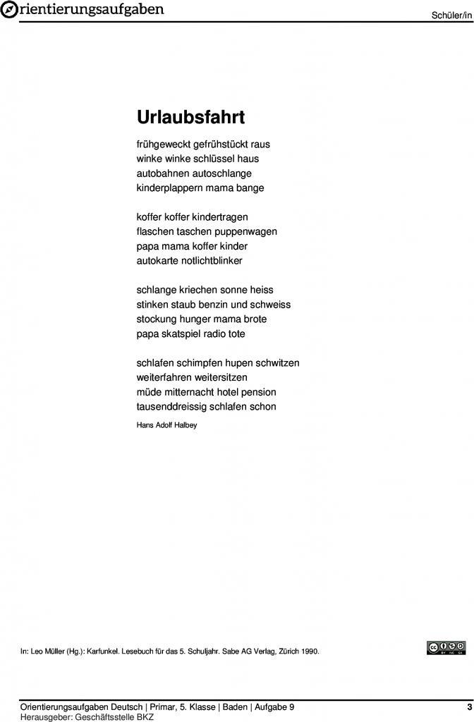 Gedichte fur die schule 9 klasse