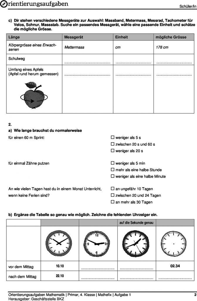 Nice Messen Arbeitsblatt Die Messeinheiten 1 Umwandeln Wie Angegeben ...