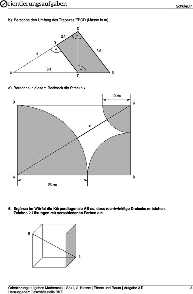 Beste Mathe Ebene 3 Arbeitsblatt Bilder - Mathematik & Geometrie ...