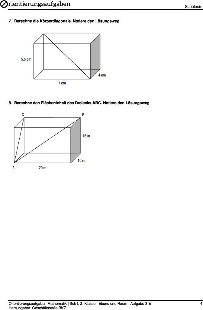 Satz des pythagoras aufgaben pdf