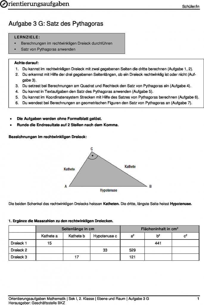 Berühmt Sonder Pdf Rechtwinkliger Dreiecke Arbeitsblatt Ideen ...
