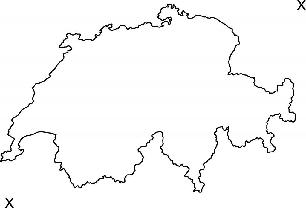 Schweiz Karte Schwarz Weiss.Unterricht Zebis