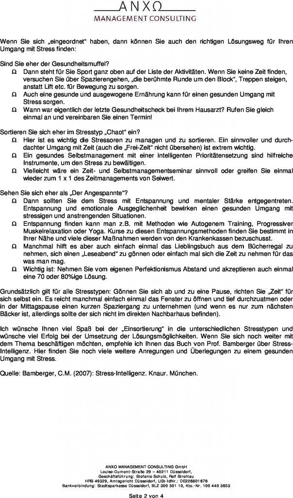 Nett Stress Management Arbeitsblatt Fotos - Arbeitsblatt Schule ...