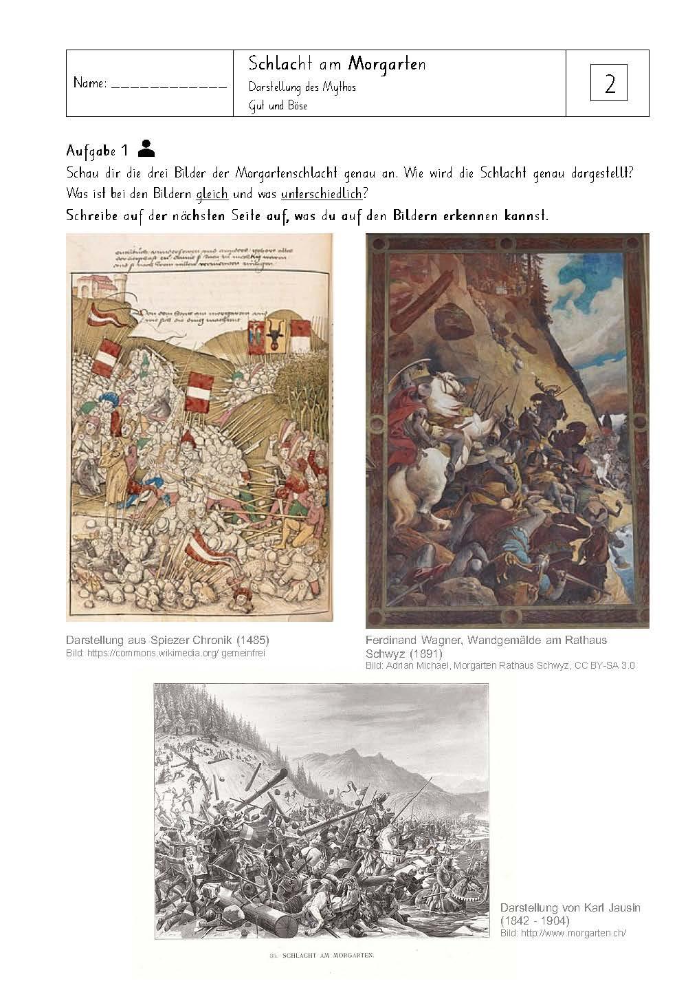 Preview image for LOM object Die Schlacht am Morgarten aus verschiedenen Blickwinkeln