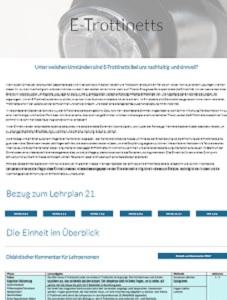 Preview image for LOM object BNE-Fabrik: Unterrichtseinheit E-Trottinetts