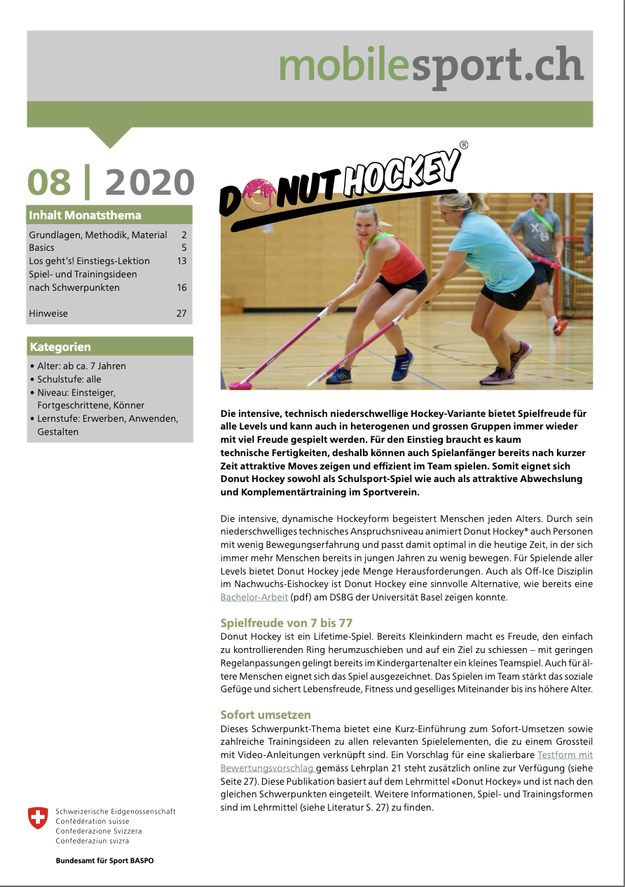 Preview image for LOM object Donut Hockey - mobilesport.ch Monatsthema