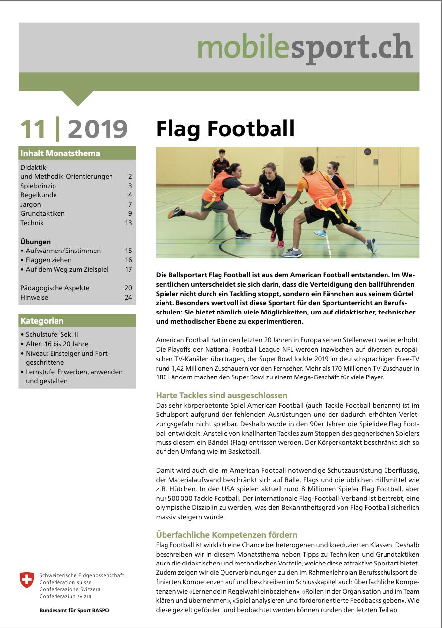 Preview image for LOM object Flag Football - mobilesport Monatsthema