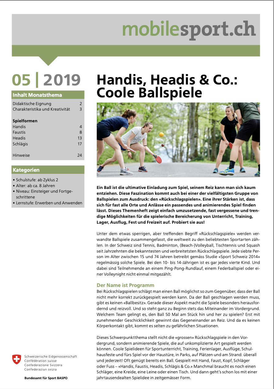 Preview image for LOM object Handis, Headis & Co.: Coole Ballspiele - mobilesport Monatsthema