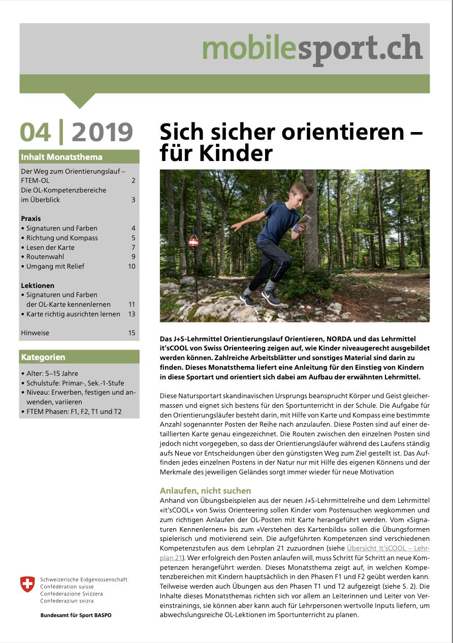 Preview image for LOM object Sich sicher orientieren (für Kinder) - mobilesport Monatsthema