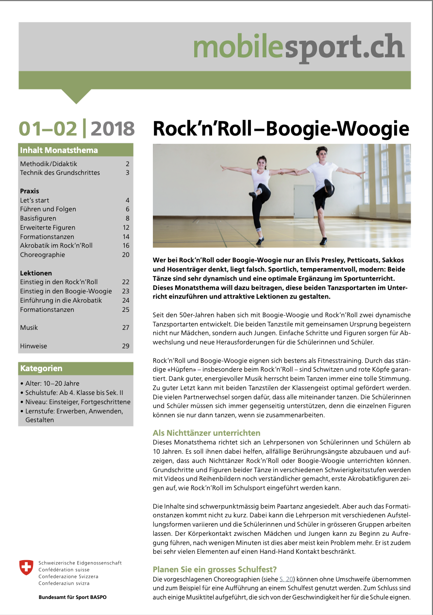 Preview image for LOM object Rock'n'Roll - Boogie-Woogie - mobilesport Monatsthema