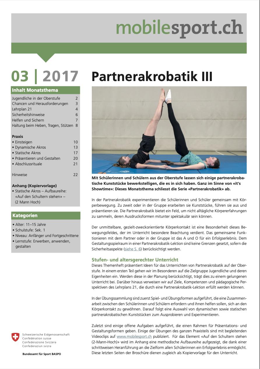 Preview image for LOM object Partnerakrobatik III - mobilesport Monatsthema
