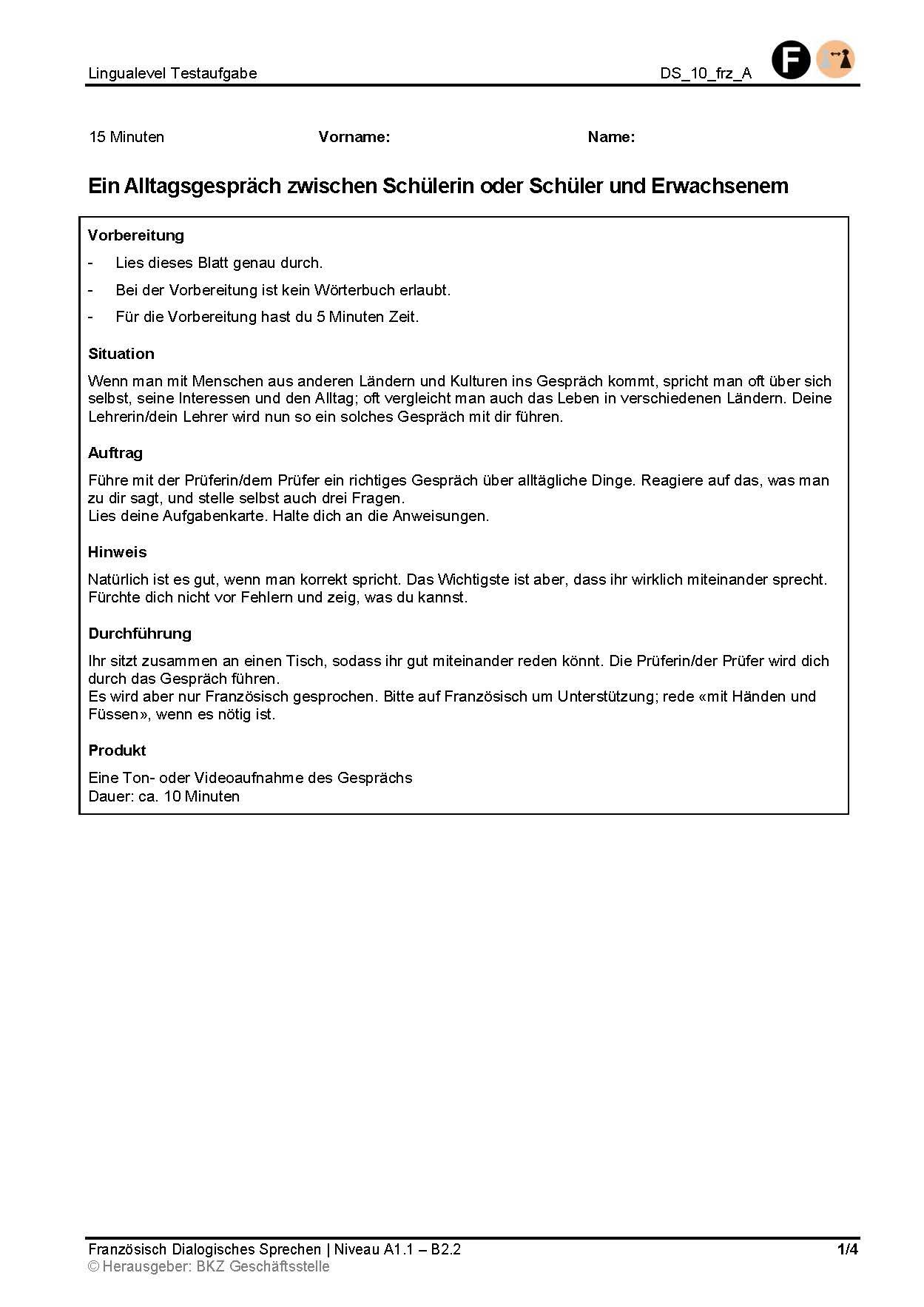Preview image for LOM object Ein Alltagsgespräch zwischen Schülerin oder Schüler und Erwachsenem