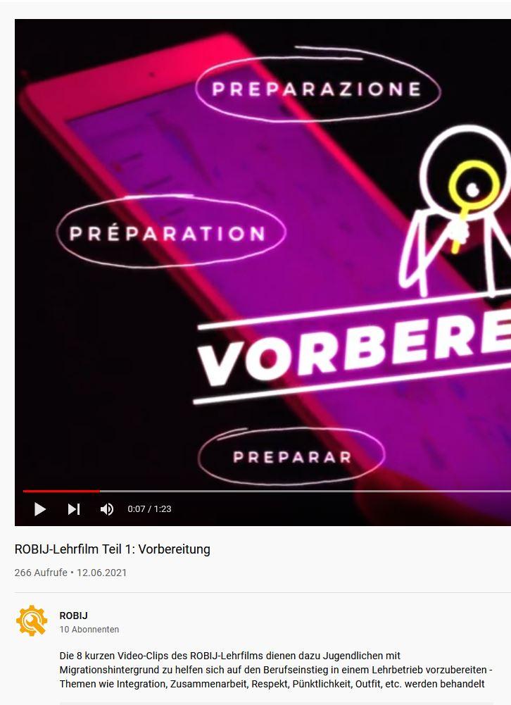 Preview image for LOM object Lehrfilme für den Berufseinstieg