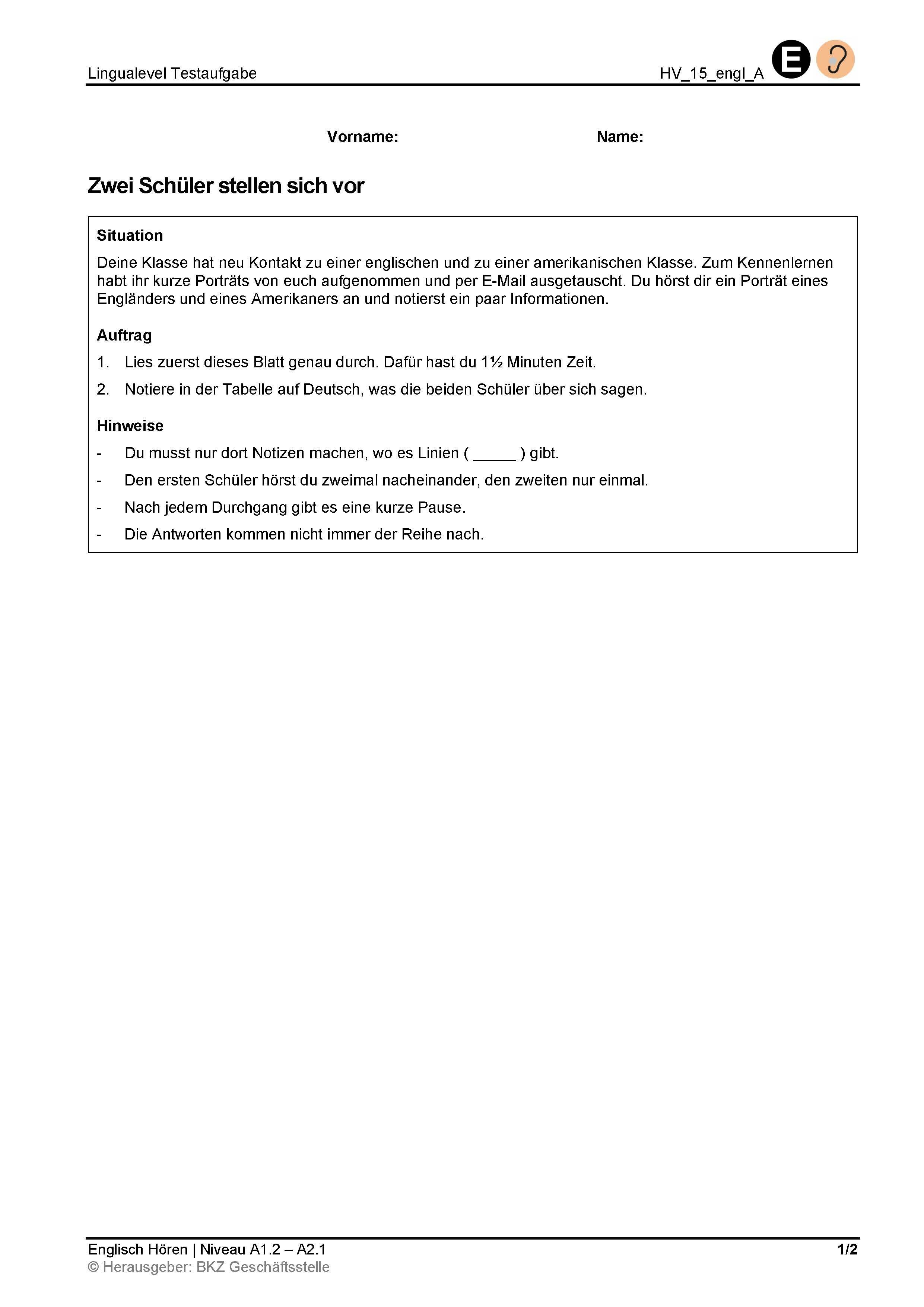 Preview image for LOM object Zwei Schüler stellen sich vor