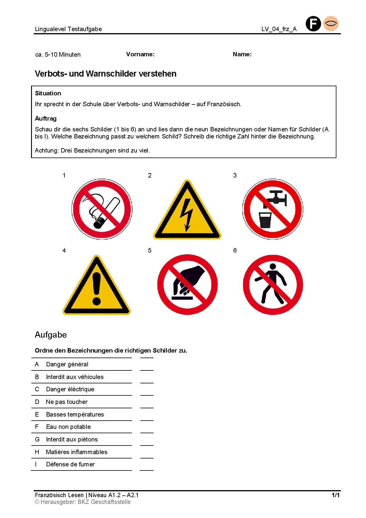 Preview image for LOM object Verbots- und Warnschilder verstehen