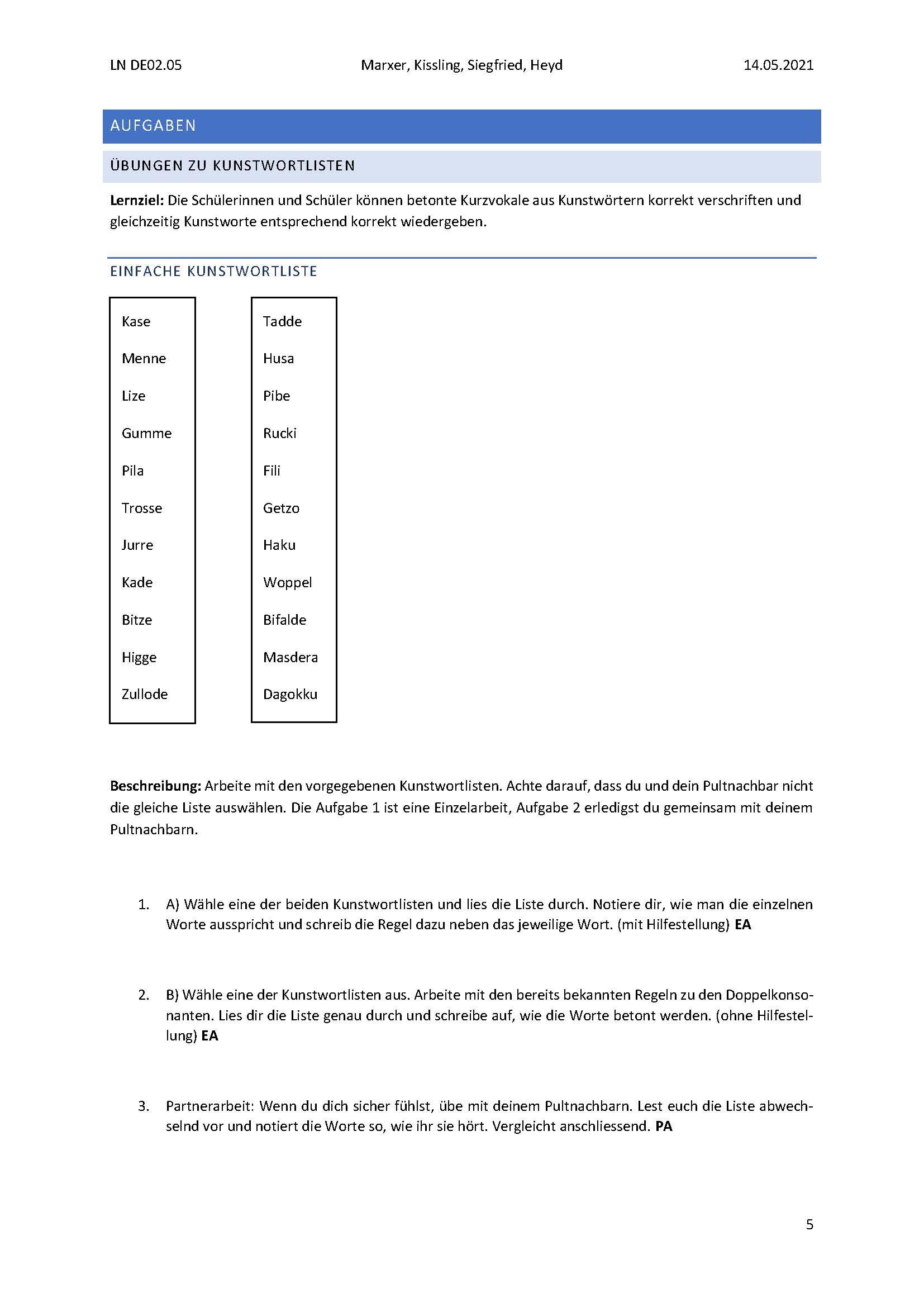 Preview image for LOM object Isolierte Trainingsaufgaben zur Doppelkonsonantenregel 1
