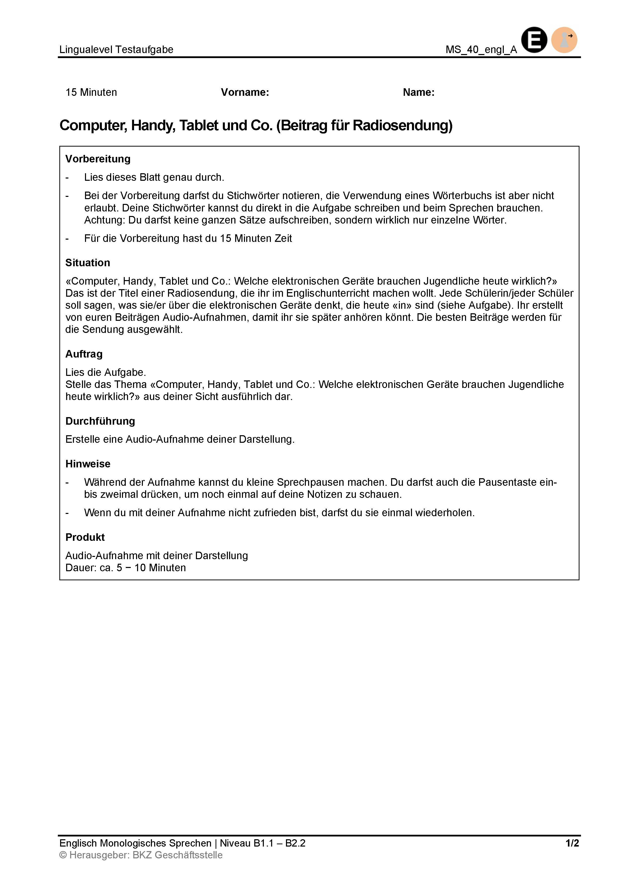 Preview image for LOM object Monologisches Sprechen: Computer, Handy, Tablet und Co. (Beitrag für Radiosendung)