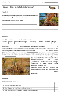 Preview image for LOM object Steckbrief, Lebensweise und Lebensraum vom Biber
