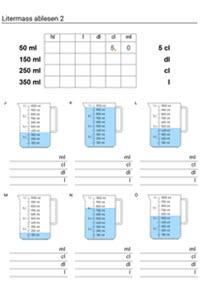 Preview image for LOM object Hohlmasse: Arbeitsblätter und Lernkontrolle mit angepassten Lernzielen