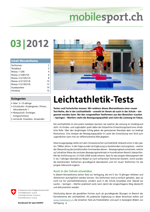 Preview image for LOM object Leichtathletik-Tests - mobilesport Monatsthema