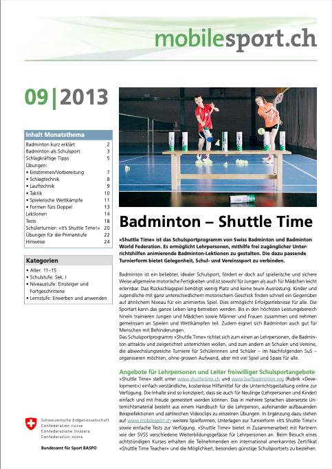 Preview image for LOM object Badminton - mobilesport Monatsthema