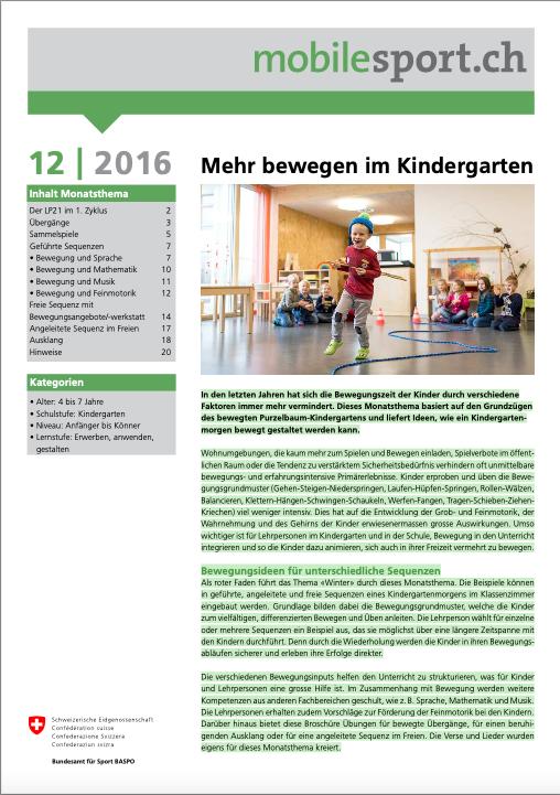 Preview image for LOM object Mehr bewegen im Kindergarten - mobilesport Monatsthema