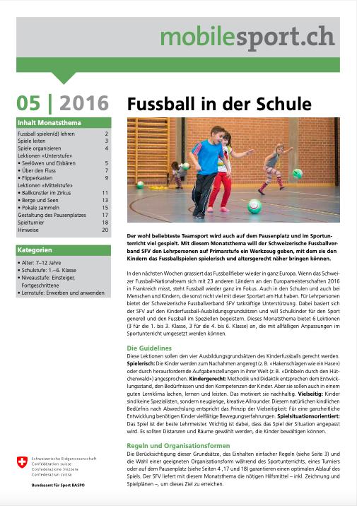 Preview image for LOM object Fussball - mobilesport Monatsthema