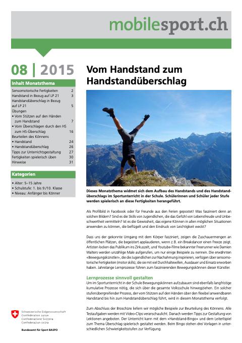 Preview image for LOM object Vom Handstand zum Handstandüberschlag - mobilesport Monatsthema