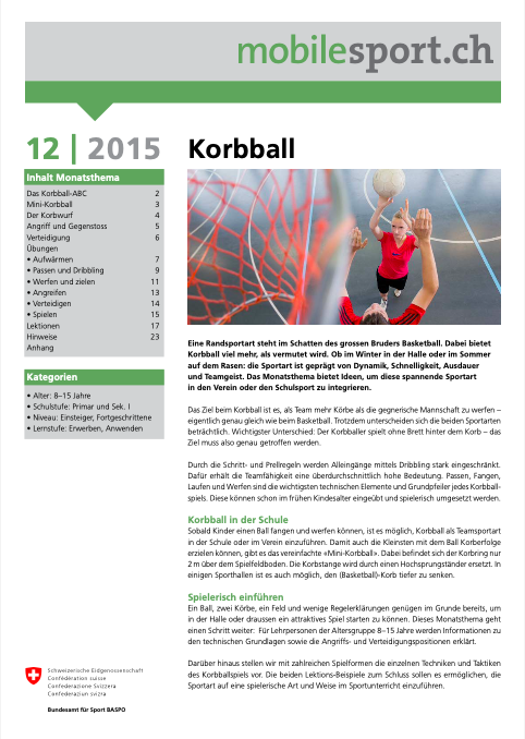 Preview image for LOM object Korbball - mobilesport Monatsthema