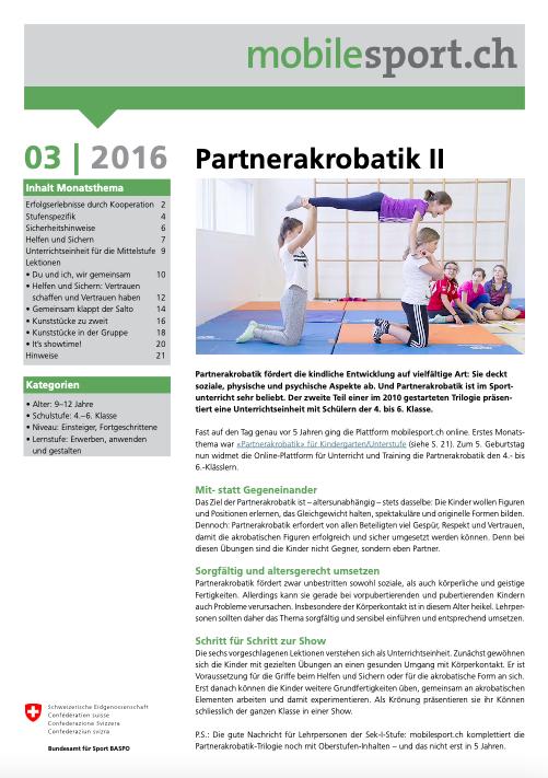 Preview image for LOM object Partnerakrobatik II - mobilesport Monatsthema
