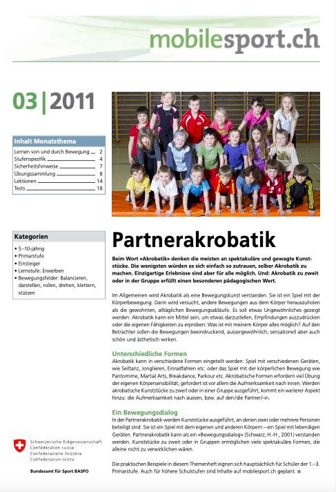 Preview image for LOM object Partnerakrobatik I - mobilesport Monatsthema