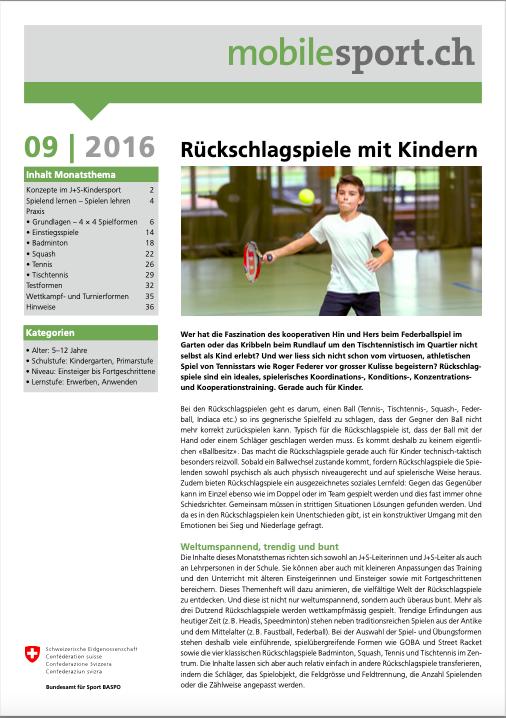 Preview image for LOM object Rückschlagspiele mit Kindern - mobilesport Monatsthema