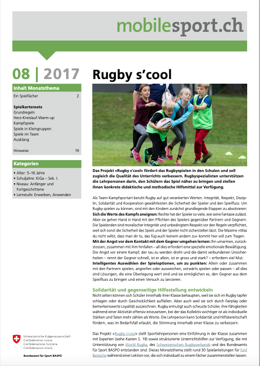 Preview image for LOM object Rugby s'cool - mobilesport Monatsthema