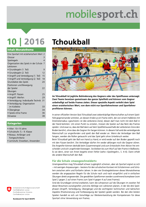 Preview image for LOM object Tchoukball - mobilesport Monatsthema
