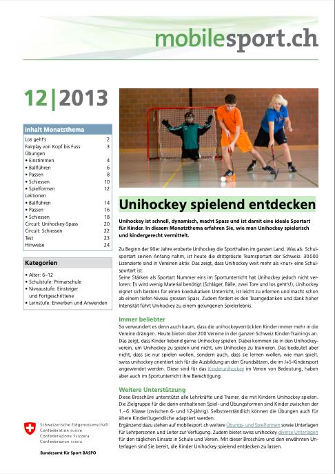 Preview image for LOM object Unihockey spielend entdecken - mobilesport Monatsthema